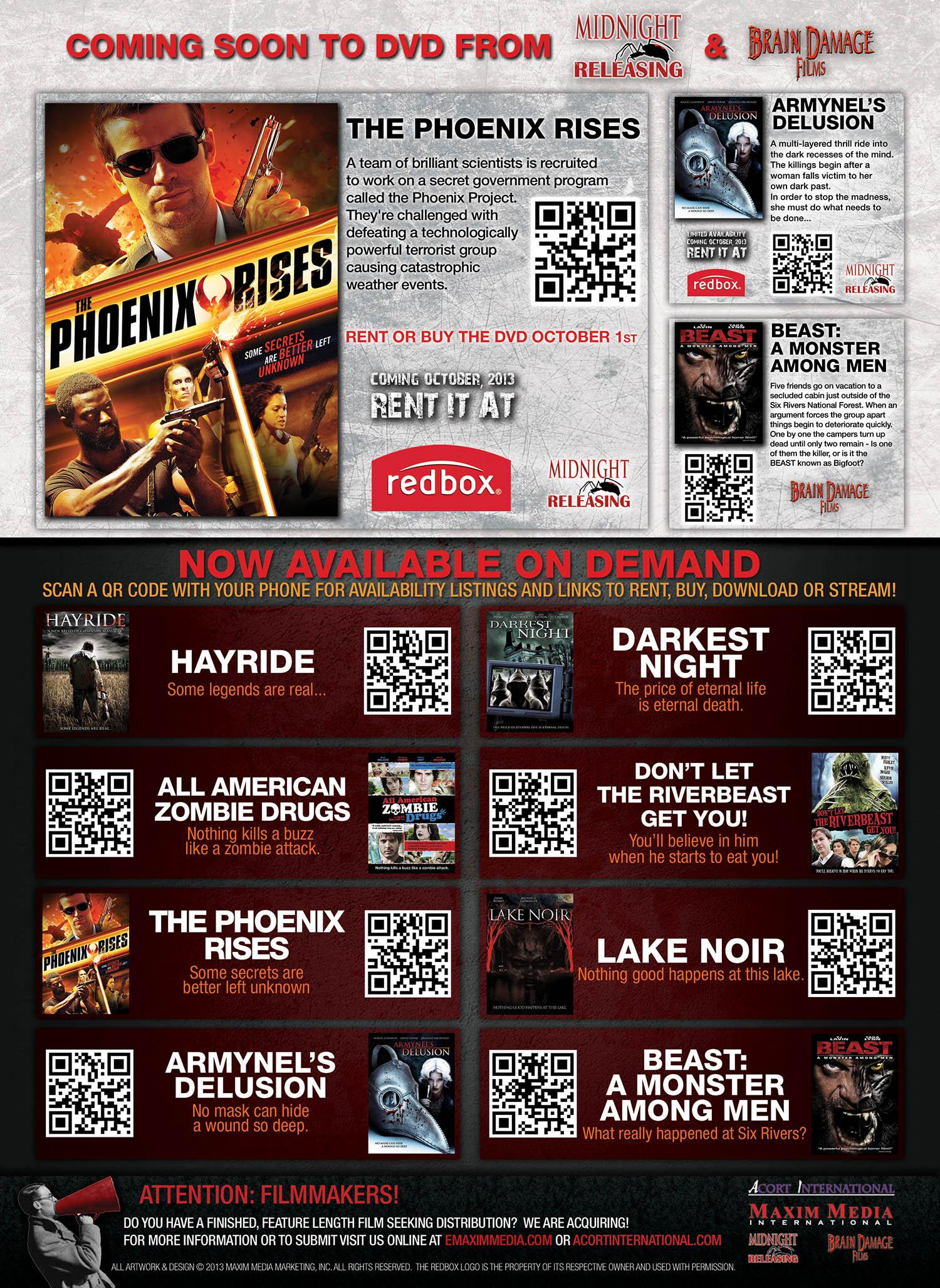 Maxim Media Domestic Labels Ad (Fangoria #327)